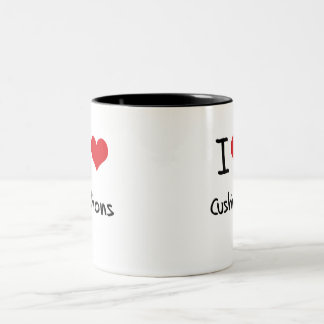 I love Cushions Two-Tone Coffee Mug