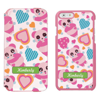 I Love Cute Pandas Incipio Watson™ iPhone 6 Wallet Case