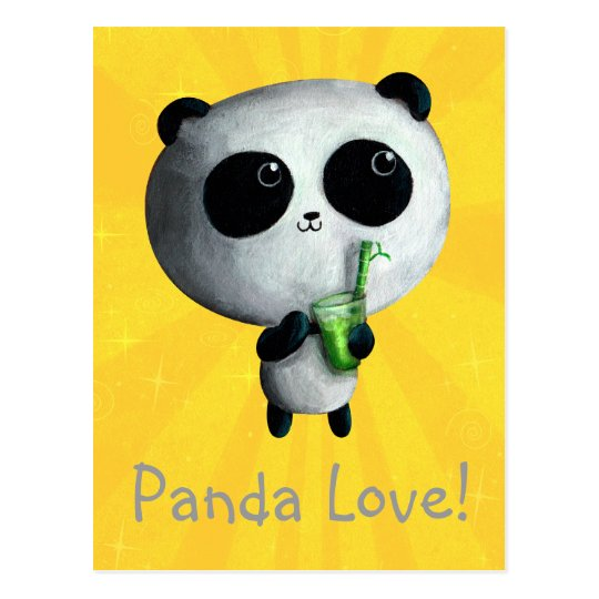 I love Cute Pandas Postcard