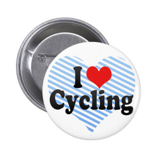 I Love Cycling 2 Inch Round Button