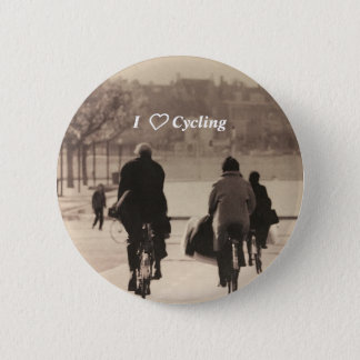 I love cycling badge 2 inch round button