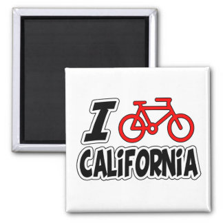 I Love Cycling California Magnet