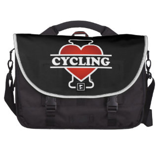 I Love Cycling Laptop Messenger Bag