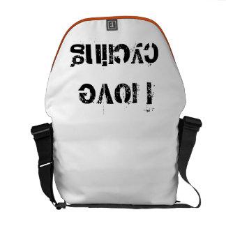 I love cycling messenger bag