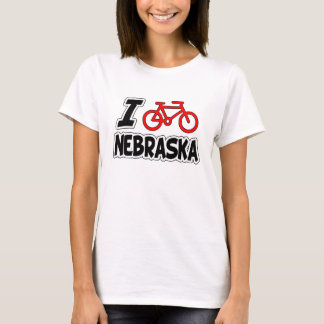 I Love Cycling Nebraska T-Shirt