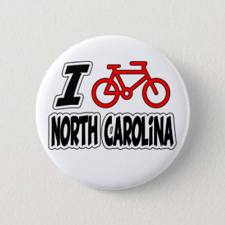 I Love Cycling North Carolina 2 Inch Round Button