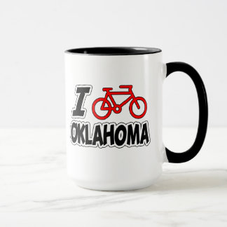 I Love Cycling Oklahoma Mug