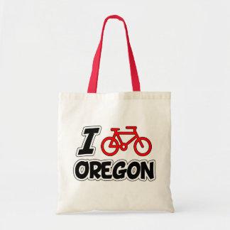 I Love Cycling Oregon Budget Tote Bag