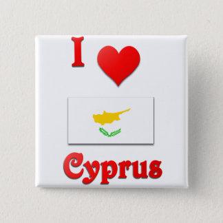 I Love Cyprus 2 Inch Square Button