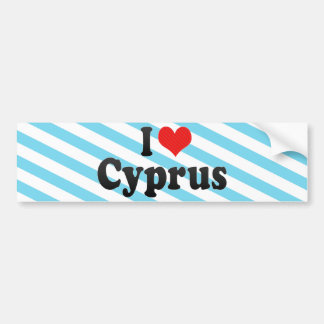 I Love Cyprus Bumper Sticker