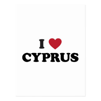 I Love Cyprus Postcard