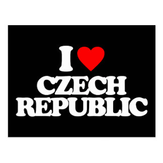 I LOVE CZECH REPUBLIC POSTCARD