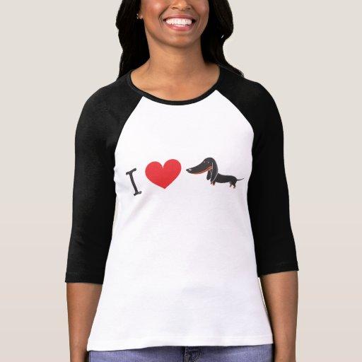 I love dachshund (black)