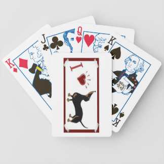 I Love Dachshund Playing Cards