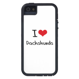 I Love Dachshunds Case For The iPhone 5