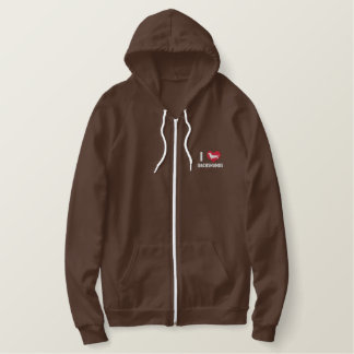 I Love Dachshunds Embroidered Hoodie