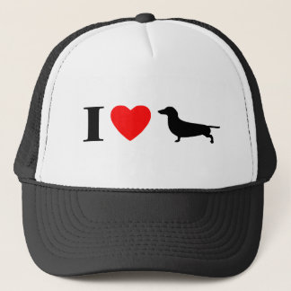 I Love Dachshunds Hat