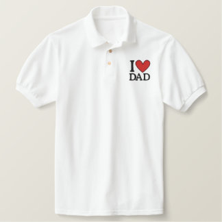 I Love  Dad Embroidered Embroidered Shirt