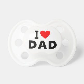 i love dad heart daddy text message father symbol pacifier