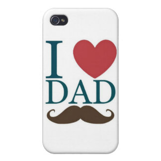 I love dad mustache iPhone 4 cases