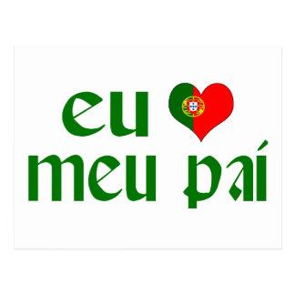 I love Dad - Portuguese Postcard