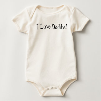 I Love, Daddy! Baby Bodysuit