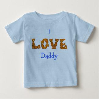 I Love Daddy Baby Shirt~Teddy Bear Alphabet Letter Baby T-Shirt