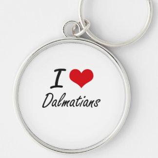 I love Dalmatians Keychain