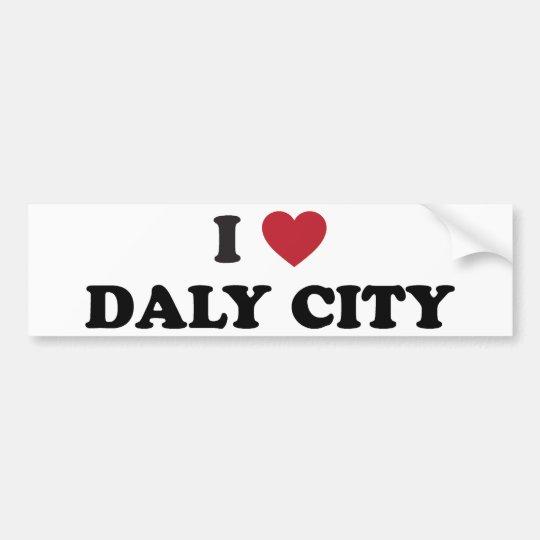 I Love Daly City California Bumper Sticker