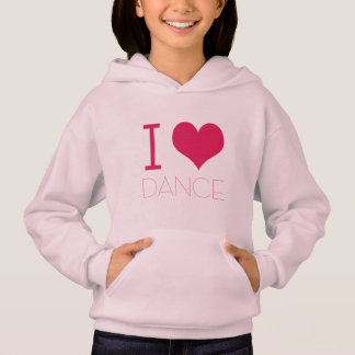 """I Love Dance"" Dance Practice Wear Hoodie"
