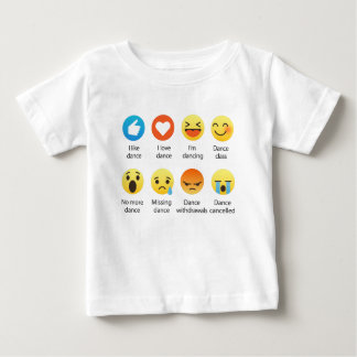 I Love Dance Emoticon (emoji) Social (dark font) Baby T-Shirt