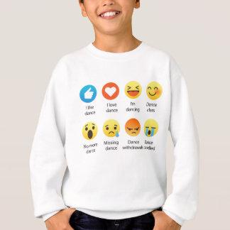 I Love Dance Emoticon (emoji) Social (dark font) Sweatshirt