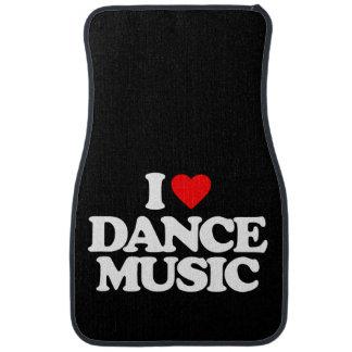 I LOVE DANCE MUSIC CAR FLOOR CARPET