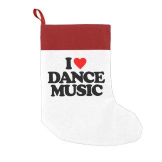 I LOVE DANCE MUSIC SMALL CHRISTMAS STOCKING