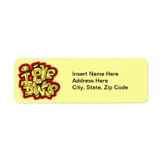 I Love Dance Return Address Label