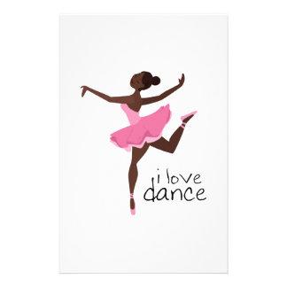 I Love Dance Stationery Paper