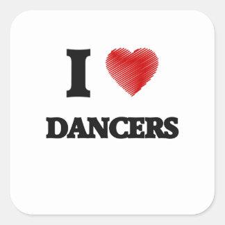 I love Dancers Square Sticker