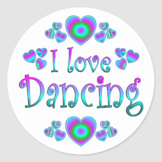 I Love Dancing Classic Round Sticker