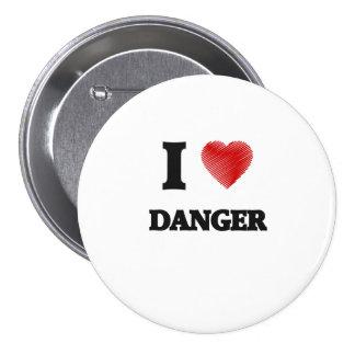 I love Danger 3 Inch Round Button