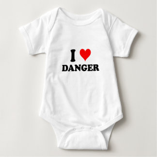 I Love Danger Baby Bodysuit