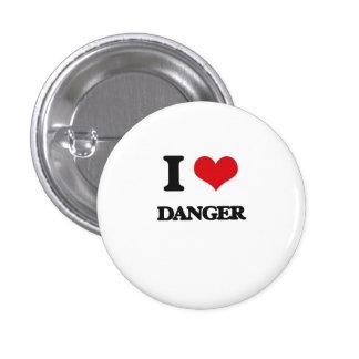 I love Danger Pinback Buttons