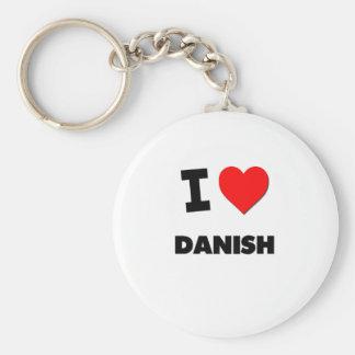 I Love Danish Keychain