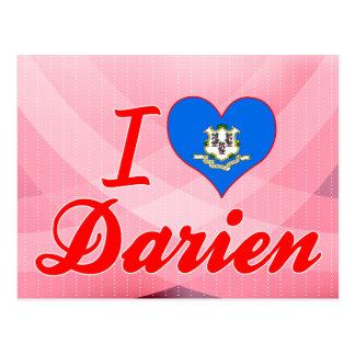 I Love Darien, Connecticut Postcard