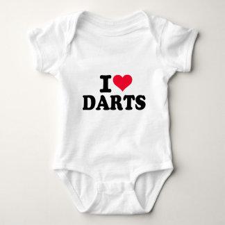 I love Darts Baby Bodysuit