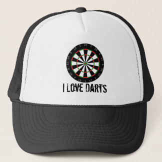 I Love Darts Hat/Cap Trucker Hat