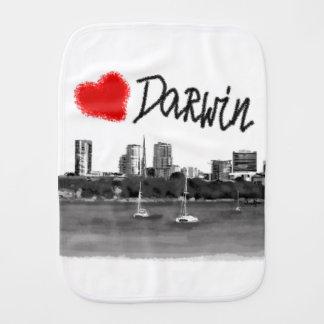 i love Darwin Burp Cloth