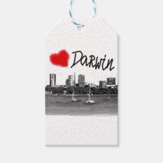 i love Darwin Gift Tags
