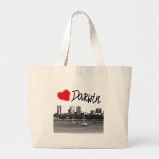 i love Darwin Large Tote Bag