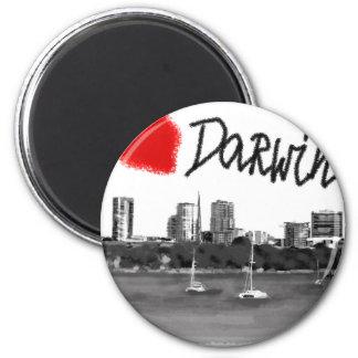 i love Darwin Magnet