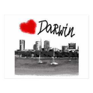 i love Darwin Postcard